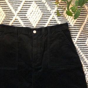 NWT Monki black corduroy mini skirt